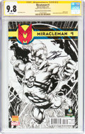 Modern Age (1980-Present):Superhero, Miracleman #1 Wizard World Portland Sketch Edition - Signature Series (Marvel, 2014) CGC NM/MT 9.8 White pages....