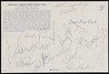 Football Collectibles:Photos, 1969 Green Bay Packers Team Signed Oversized Postcard - With Claudis James and Bart Starr!...