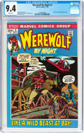 Bronze Age (1970-1979):Horror, Werewolf by Night #2 (Marvel, 1972) CGC NM 9.4 White pages....