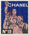 Prints:Contemporary, Wang Guangyi (b. 1957). Great Criticism Series: Chanel No.19, 2002. Lithograph in colors. 46-7/8 x 37-3/4 inches(119.1...