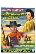 "Movie Posters:Western, The Searchers (Warner Brothers, 1956). Belgian (14"" X 21.25"").Western.. ..."