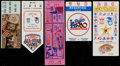 Baseball Collectibles:Tickets, 1964-92 World Series and All-Star Game Tickets Lot of 5....