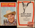 Baseball Collectibles:Publications, 1940's-50's Dizzy Dean Publications Lot of 2....