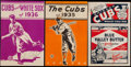 Baseball Collectibles:Publications, 1934-38 Chicago Cubs Publications Lot of 6....