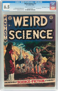 "Golden Age (1938-1955):Science Fiction, Weird Science #14 Davis Crippen (""D"" Copy) Pedigree (EC, 1952) CGCFN+ 6.5 Cream to off-white pages...."