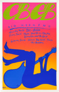 Music Memorabilia:Posters, CBGB Big Weekend Concert Poster (1980)....