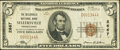 National Bank Notes:Pennsylvania, Sellersville, PA - $5 1929 Ty. 1 The Sellersville NB Ch. # 2667. ...