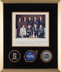Autographs:Celebrities, NASA Astronaut Group Two: Color Photo Signed on Mat by All Nine,Originally from the Personal Collection of Group Member James...