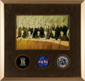 Autographs:Celebrities, NASA Astronaut Group Three: Color Photo Signed by All Fourteen, inFramed Display, with Novaspace COA....