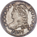 Bust Dimes, 1827 10C Pointed Top 1, JR-6, R.2, MS64 PCGS. CAC....
