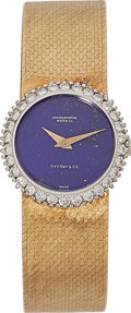 Estate Jewelry:Watches, IWC Lady's Diamond, Lapis Lazuli, Gold Watch, retailed by Tiffany& Co. . ...