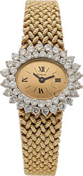 Estate Jewelry:Watches, Swiss Lady's Diamond, Gold Watch. ...