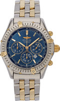 Estate Jewelry:Watches, Breitling Gentleman's Gold, Stainless Steel Chronograph Watch. ...