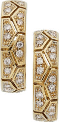 Estate Jewelry:Earrings, Diamond, Gold Earrings. ... (Total: 2 Items)