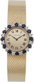 Estate Jewelry:Watches, Movado Lady's Diamond, Sapphire, Gold Watch. ...