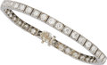Estate Jewelry:Bracelets, Art Deco Diamond, Platinum Bracelet. . ...