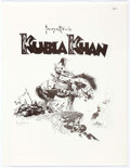 Memorabilia:Comic-Related, Frank Frazetta Kubla Khan Portfolio #125/1500 (Frazetta Prints, 1977). ... (Total: 7 Items)
