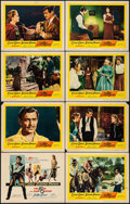 "Movie Posters:Western, The King and Four Queens (United Artists, 1957). Lobby Card Set of 8 (11"" X 14""). Western.. ... (Total: 8 Items)"