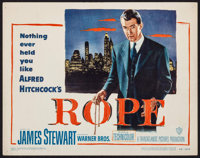 "Rope (Warner Brothers, 1948). Title Lobby Card (11"" X 14""). Hitchcock"