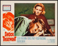 "Movie Posters:Drama, Shock Treatment (20th Century Fox, 1964). Autographed Lobby Card(11"" X 14""). Drama.. ..."