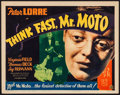 "Movie Posters:Mystery, Think Fast, Mr. Moto (20th Century Fox, 1937). Title Lobby Card(11"" X 14""). Mystery.. ..."