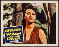 "Woman of the River (Columbia, 1957). Autographed Lobby Card (11"" X 14""). Foreign"