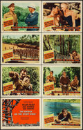 "Movie Posters:War, The Bridge on the River Kwai (Columbia, 1958). Lobby Card Set of 8 (11"" X 14""). War.. ... (Total: 8 Items)"