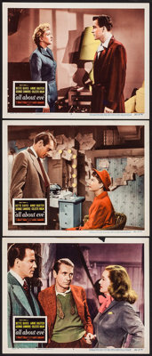 """All About Eve (20th Century Fox, 1950). Lobby Cards (3) (11"""" X 14""""). Academy Award Winners. ... (Total: 3 Item..."""
