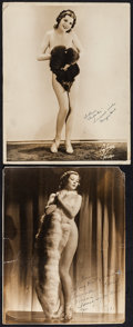 """Movie Posters:Exploitation, Margie Hart & Other Lot (1930s). Autographed Trimmed Photo(10.5"""" X 13.5"""") & Autographed Photo (11"""" X 14""""). Exploitation..... (Total: 2 Items)"""