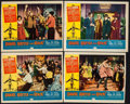 """Movie Posters:Rock and Roll, Shake, Rattle and Rock (American International, 1956). Lobby Card(11"""" X 14"""") & Trimmed Lobby Cards (3) (11"""" X 13.25""""). Rock...(Total: 4 Items)"""
