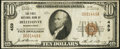 National Bank Notes:Pennsylvania, Bellefonte, PA - $10 1929 Ty. 1 The First NB Ch. # 459. ...