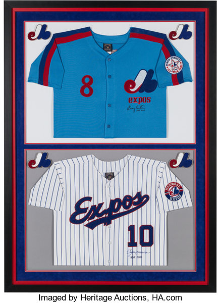best authentic e0d80 d8fdf 2000's Gary Carter & Andre Dawson Signed Jersey Display from ...