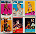 Basketball Cards:Lots, 1969-76 Topps Basketball Collection (390) Plus 10 FootballCards/Scratch-off Cards....