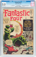 Silver Age (1956-1969):Superhero, Fantastic Four #1 (Marvel, 1961) CGC VG- 3.5 Off-white to white pages....
