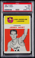 Basketball Cards:Singles (Pre-1970), 1961 Fleer Jerry West #43 PSA EX-MT 6 (MC)....