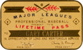 Baseball Collectibles:Others, Early 1990's Gary Carter's Lifetime Major League Pass from The Gary Carter Collection.. ...