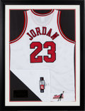 "Basketball Collectibles:Uniforms, 1997-98 Michael Jordan Signed Chicago Bulls ""Mr. June"" UDA Jerseyfrom The Gary Carter Collection...."