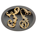 Estate Jewelry:Brooches - Pins, Diamond, Black Onyx, Gold Brooch, Bailey & Co.. ...