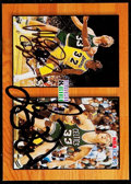 Basketball Cards:Singles (1980-Now), Signed 1993 Hoops Magic Johnson & Larry Bird #MB1....