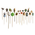 Estate Jewelry:Stick Pins and Hat Pins, Diamond, Multi-Stone, Freshwater Pearl, Seed Pearl, Enamel, Glass,Gold, Base Metal Stickpins. ... (Total: 20 Items)