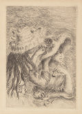 Prints, Pierre-Auguste Renoir (French, 1841-1919). Le chapeau épinglé (third version), 1894, printed later. Etching on laid pape...