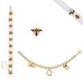 Estate Jewelry:Lots, Garnet, Turquoise, Freshwater Cultured Pearl, Enamel, Glass, Gold Jewelry. ... (Total: 5 Items)