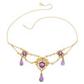 Estate Jewelry:Necklaces, Amethyst, Freshwater Pearl, Gold Necklace. ...