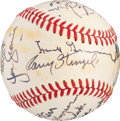 Baseball Collectibles:Balls, 1974-76 Hall of Famers Multi-Signed Baseball from The Gary CarterCollection. ...