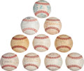 Baseball Collectibles:Balls, 1970's-80's Montreal Expos Team Signed Baseballs Lot of 10 from The Gary Carter Collection....