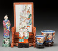 Asian:Other, Five Chinese and Japanese Porcelain Articles. Marks: (various). 10inches high (25.4 cm). The lot comprising Chinese expor... (Total:5 Items)