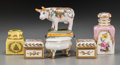 Ceramics & Porcelain, Continental:Contemporary   (1950 to present)  , A Group of Six French Polychrome and Partial Gilt Porcelain TableItems, mid-20th century. Marks: (various marks). 4-1/8 inc...(Total: 6 Items)