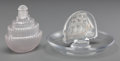 Art Glass:Lalique, R. Lalique Clear and Frosted Glass Caravelle Ashtray andAmbroise Perfume, circa 1928-1930. Marks: ... (Total: 2Items)