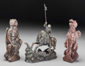 Sculpture, Three Bronze and Resin Sculptures with Gargoyle and Dragon Motifs, 20th century. 11-3/8 inches high (28.9 cm) (tallest). T... (Total: 3 Items)