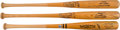 Baseball Collectibles:Bats, 1973-85 Cesar Cedeno, Rusty Staub & Bill Madlock Game Issued Bats from The Gary Carter Collection. ...